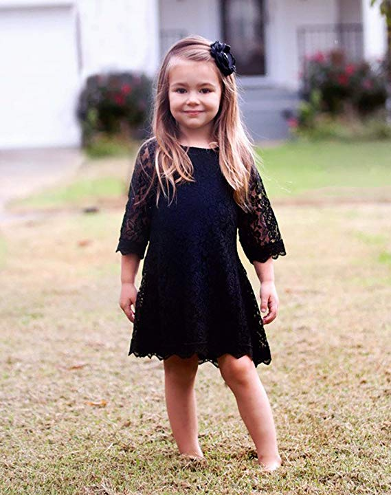 CVERRE Flower Girl Lace Dress Country Dresses Sleeves 1-6 7-16