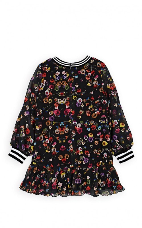 Givenchy Kids' Pansy-Print Chiffon Dress