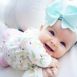 Baby With Blue Hair Bow